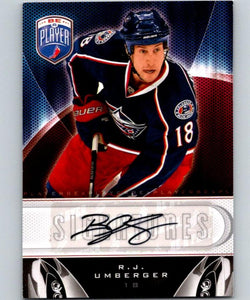 2009-10 In The Game Be A Player Signatures R.J. Umberger NHL Auto 04645