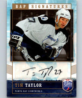 2006-07 Be A Player Signatures #TT Tim Taylor NHL Auto 04648