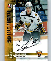 2012-13 ITG Draft Prospects Autographs #AWC William Carrier Auto 04655