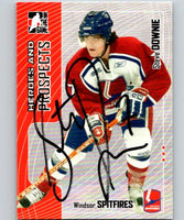 2005-06 ITG Heroes and Prospects Autographs #113 Steve Downie Auto 04658
