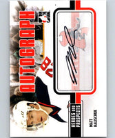 2010-11 ITG Heroes and Prospects Autographs #AMH Matt Halischuk Auto 04660