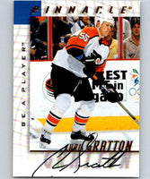 1997-98 Be A Player Autographs #137 Chris Gratton NHL Auto Flyers 04705