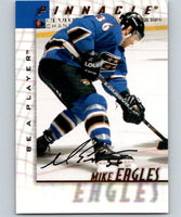 1997-98 Be A Player Autographs #149 Mike Eagles NHL Auto Capitals 04706