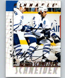 1997-98 Be A Player Autographs #206 Mathieu Schneider NHL Auto Leafs 04713