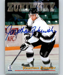 1996 Visions Signings Autographs Gold #74 Jonathan Zukiwsky Auto 04718