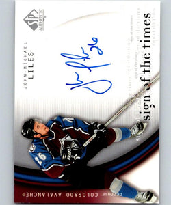 2005-06 SP Authentic Sign of the Times John-Michael Liles NHL Auto 04720