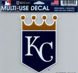 "Kansas City Royals Multi-Use Decal Sticker 5""x6"" Clear Back"
