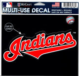 "(HCW) Cleveland Indians Multi-Use Decal Sticker MLB 5""x6"" Baseball"