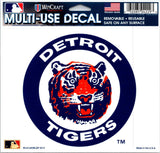 "(HCW) Detroit Tigers Multi-Use Decal Sticker MLB 5""x6"" Baseball"
