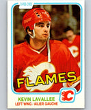 1981-82 O-Pee-Chee #43 Kevin LaVallee RC Rookie Flames 6335