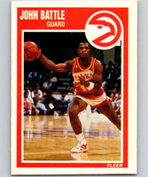 1989-90 Fleer #1 John Battle RC Rookie Hawks NBA Baseketball