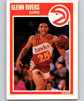 1989-90 Fleer #5 Glenn Rivers Hawks NBA Baseketball