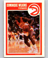 1989-90 Fleer #7 Dominique Wilkins Hawks NBA Baseketball