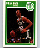 1989-90 Fleer #14 Brian Shaw RC Rookie Celtics NBA Baseketball