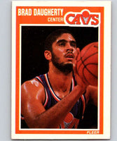 1989-90 Fleer #25 Brad Daugherty Cavaliers NBA Baseketball
