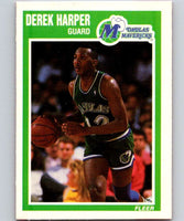 1989-90 Fleer #35 Derek Harper Mavericks NBA Baseketball