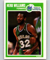 1989-90 Fleer #37 Herb Williams Mavericks NBA Baseketball