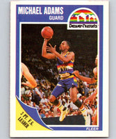 1989-90 Fleer #38 Michael Adams Nuggets NBA Baseketball