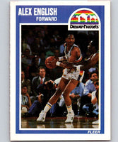 1989-90 Fleer #40 Alex English Nuggets NBA Baseketball