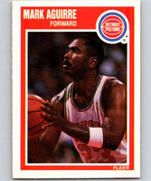 1989-90 Fleer #44 Mark Aguirre Pistons NBA Baseketball