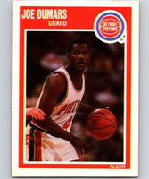 1989-90 Fleer #45 Joe Dumars Pistons NBA Baseketball