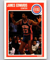 1989-90 Fleer #46 James Edwards Pistons NBA Baseketball