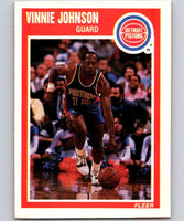 1989-90 Fleer #47 Vinnie Johnson Pistons NBA Baseketball