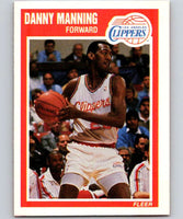 1989-90 Fleer #71 Danny Manning RC Rookie Clippers NBA Baseketball