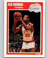 1989-90 Fleer #72 Ken Norman RC Rookie Clippers NBA Baseketball