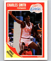 1989-90 Fleer #73 Charles Smith RC Rookie Clippers NBA Baseketball