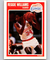 1989-90 Fleer #74 Reggie Williams RC Rookie Clippers NBA Baseketball