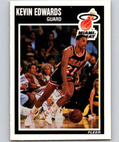 1989-90 Fleer #81 Kevin Edwards RC Rookie Heat NBA Baseketball