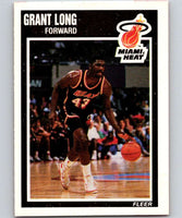 1989-90 Fleer #82 Grant Long RC Rookie Heat NBA Baseketball