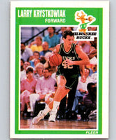 1989-90 Fleer #87 Larry Krystkowiak RC Rookie Bucks NBA Baseketball