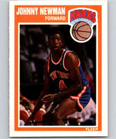 1989-90 Fleer #102 Johnny Newman RC Rookie Knicks NBA Baseketball