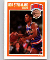 1989-90 Fleer #104 Rod Strickland RC Rookie Knicks NBA Baseketball