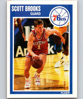 1989-90 Fleer #114 Scott Brooks RC Rookie 76ers NBA Baseketball