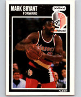 1989-90 Fleer #127 Mark Bryant RC Rookie Blazers NBA Baseketball
