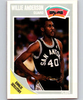 1989-90 Fleer #140 Willie Anderson RC Rookie Spurs NBA Baseketball