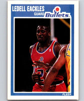 1989-90 Fleer #158 Ledell Eackles RC Rookie Bullets NBA Baseketball
