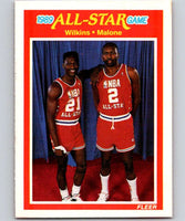 1989-90 Fleer #165 Dominique Wilkins/Moses Malone AS NBA Baseketball