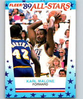 1989-90 Fleer Stickers #1 Karl Malone Jazz NBA Basketball