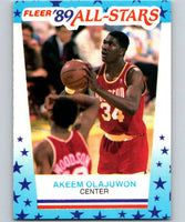 1989-90 Fleer Stickers #2 Akeem Olajuwon Rockets NBA Basketball