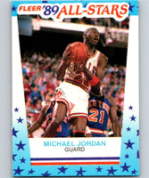 1989-90 Fleer Stickers #3 Michael Jordan Bulls NBA Basketball