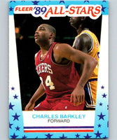 1989-90 Fleer Stickers #4 Charles Barkley 76ers NBA Basketball