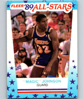1989-90 Fleer Stickers #5 Magic Johnson Lakers NBA Basketball