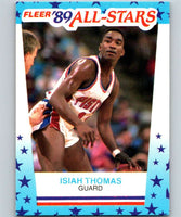 1989-90 Fleer Stickers #6 Isiah Thomas Pistons NBA Basketball