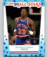 1989-90 Fleer Stickers #7 Patrick Ewing Knicks NBA Basketball