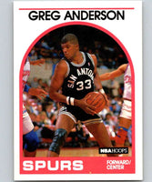 1989-90 Hoops #7 Greg Anderson SP Spurs NBA Basketball