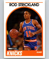 1989-90 Hoops #8 Rod Strickland RC Rookie Knicks NBA Basketball